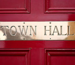 Picture of Town Hall Sign