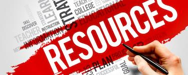 Picture of Resourcces - This is an image of a word flow chart concerning resources.